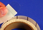 1 Inch Round Clear Label Seals Extreme Stick with Printed Liner Bar 500 roll 1CIRESLB