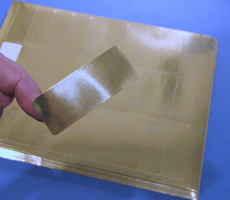 gold foil 2 5  8 u0026quot  x 1 u0026quot  laser labels 50 sheets 30 per sheet