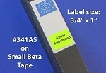 Audio Sweetened Stickers 288 labels 3/4 x 1 inch #341AS