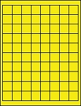 Dayglo Fluorescent Yellow 1 Inch Square Labels 50 Sheets 80 per Sheet 3925Y