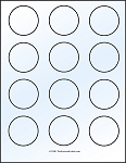 Glossy Clear Printable Sticker Labels 100 Sheets 2 Inch Round 4198C