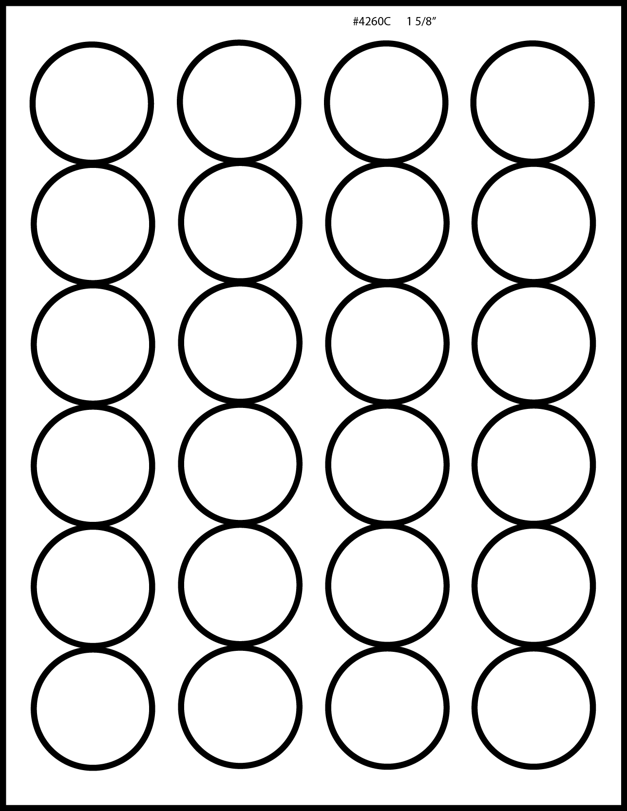 Glossy white inkjet printable labels 50 sheets 1 5 8 inch for 5 inch round labels