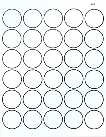 Round 1 1 2 inch clear glossy laser printable labels 50 for Circle templates to print