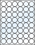 Glossy Clear Printable Sticker Labels 50 Sheets 1.25 Inch Round 4292C