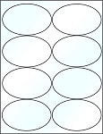 Oval 4 x 2 1/2 inch Clear Glossy Laser Labels 50 Sheets 4319C