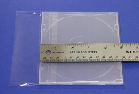 CD Slim Jewel Case Short Shrink Wrap 100 OPP bags CD52MMS