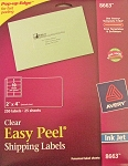 Avery Clear Inkjet Shipping Labels 25 sheets 2 x 4 8663