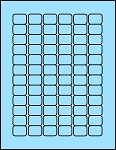 3/4 x 1 Labels Light Blue 72 per sheet 50 sheets B341