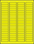 1 3/4 x 1/2 inch Labels Fluorescent Yellow color 50 sheets C1705