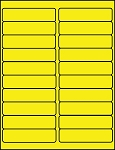 4 x 1 Fluorescent Yellow Labels  500 sheets C4010