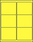 4 x 3 1/3 Inch Fluorescent Yellow Labels 50 sheets C4033