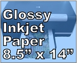 32lb Legal Size Photo Gloss Inkjet Paper 8.5 x 14 25 Sheets 8504JG