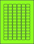 3/4 x 1 Labels Fluorescent Green 72 per sheet 50 sheets GR341