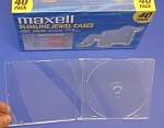 Clear CD Jewel Cases Slim line Thin 40 Maxell 190074