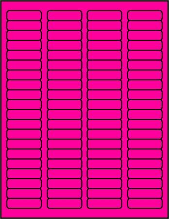 ... labels fluorescent pink color 50 sheets p1705 part number p1705 50