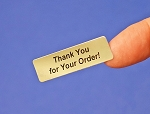 Thank You for Your Order! Silver Foil 400 Label Stickers #TYFYO
