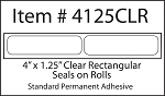 Clear Seal Sticker Labels 4 x 1.25 Inches 500 per roll 4125CLR