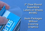 Glossy Clear Labels 50 Sheets 2 Inch Round Printable Stickers 4198C