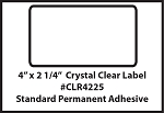 Clear Seal Sticker Labels 4 x 2.25 Inches 500 per roll 4225CLR