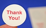 480 Glossy White THANK YOU Sticker Labels 1.25 Inch Round 4292TYGW