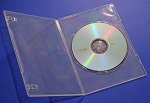 Clear DVD Slim Single Disc Cases 100 CLR7MM