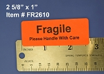 Fragile Stickers 2 5/8
