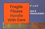 Fragile Stickers 4 x 3.3 inch 150 Red Labels Fragile4033R