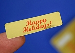 Happy Holidays! 400 Gold Foil Label Stickers #HHG