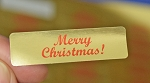 Merry Christmas! 400 Gold Foil Label Stickers #MCG