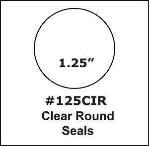 "1 1/4"" 1.25 inch Round Clear Circle Tab Seal Label Sticker 500 125CIR"