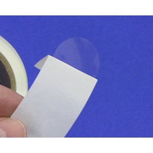 "One inch 1"" Round Clear Label Seals SuperStick 500 roll 1CIRSS"