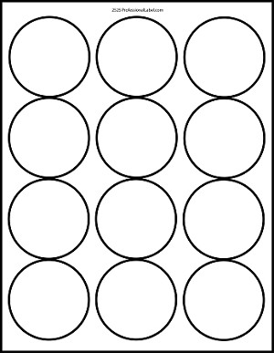 Matte White Printable Sticker Labels 100 Sheets 2.5 Inch