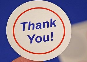 200 Glossy White THANK YOU Sticker Labels 2 Inch Round 4220TYGW