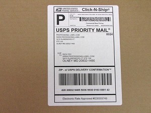 Shipping Mailing w/ receipt Labels for Click-N-Ship 100 sheets CS6687