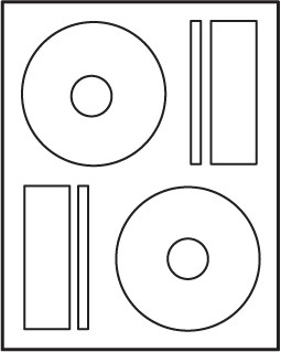 Prolabel CD DVD Blu-ray Labels compare to Memorex 100 sheets #M4540