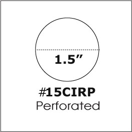 1 1 2 inch 1 5 round clear seal label perforated 500 roll 15cirp