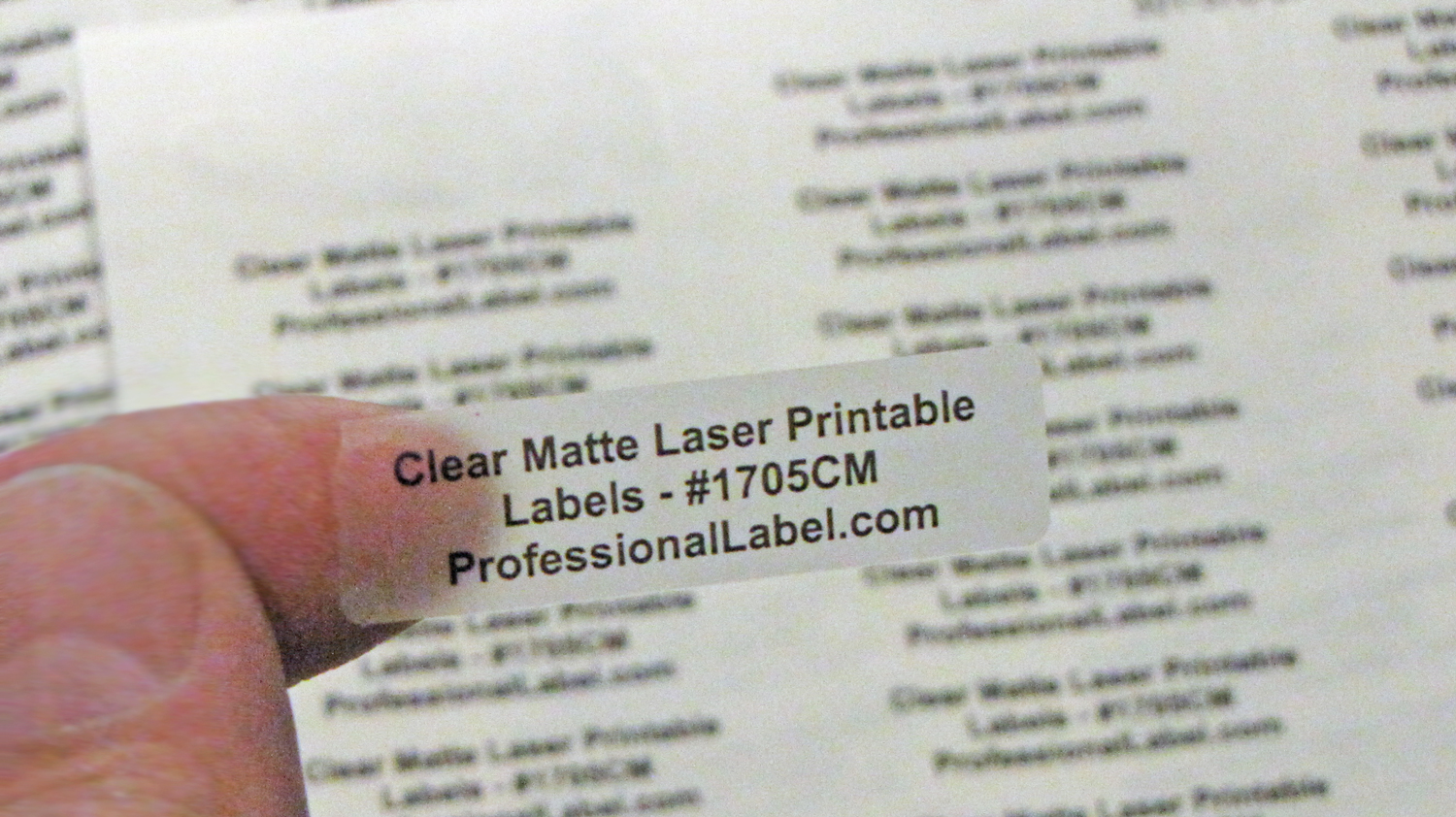 picture relating to Printable Clear Labels called Very clear Matte Laser Printable Labels 1 3/4 x 1/2 inch 50 sheets #1705CM