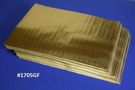 gold foil 1 34 x 12 80 per sheet laser labels 50 sheets 1705gf