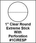 1 Inch Round Clear Label Seals Extreme Stick Perforated 500 1CIRESP
