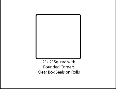 Two Inch 2 Quot Square Clear Tab Seal Label Sticker 500 Roll 22sq