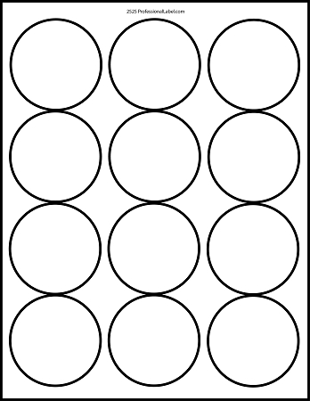 1 inch diameter circle template - matte white printable sticker labels 100 sheets 2 5 inch