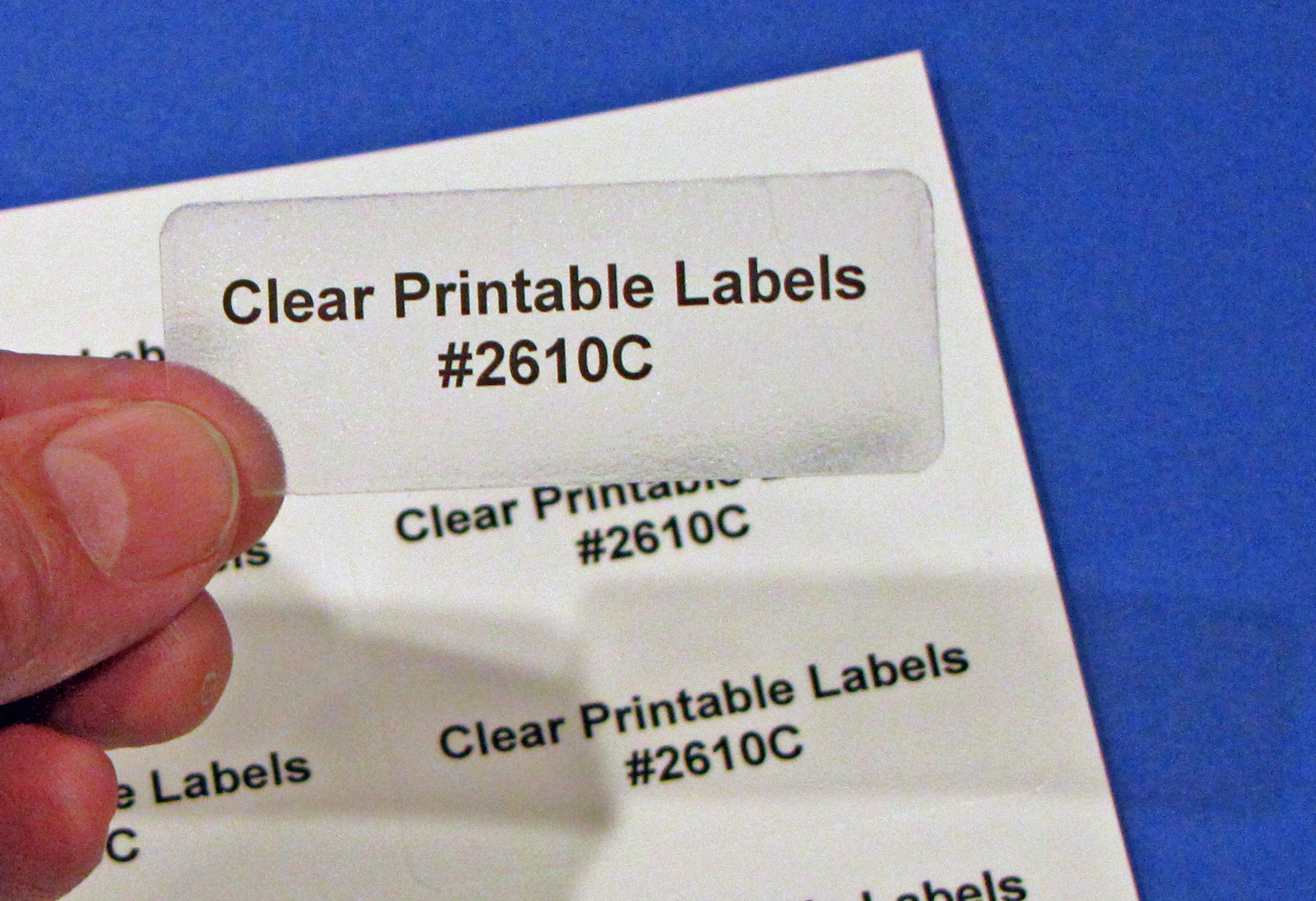 Glossy Clear Laser Printable 30 Up Labels 50 Sheets 2 5 8