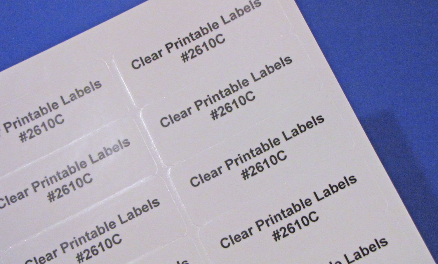 image regarding Printable Clear Labels known as Shiny Distinct Laser Printable 30 up Labels 50 Sheets 2 5/8 x 1 #2610C