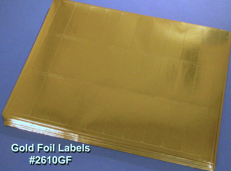 Gold Foil 2 5/8 x 1 30 up Laser Labels Laser 50 sheets 2610GF