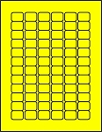 3/4 x 1 Labels Fluorescent Yellow 72 per sheet 50 sheets C341