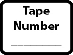Tape Number Stickers 288 labels 3/4 x 1 inch #341TapeN
