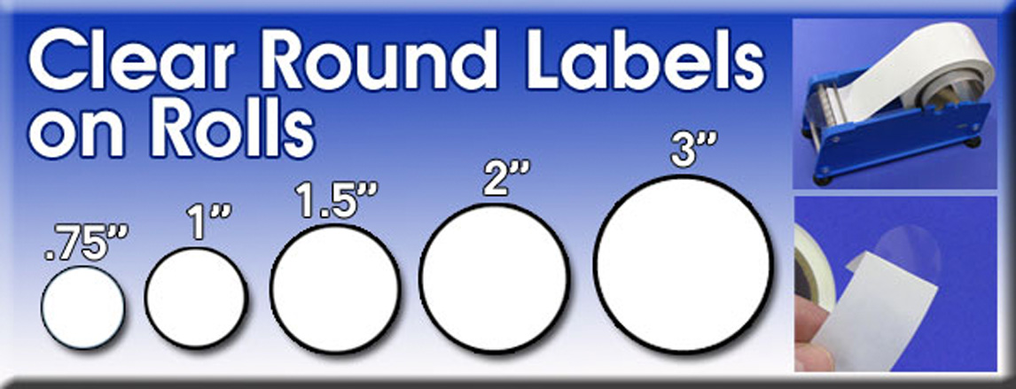 Clear Round Labels Sticky Clear Labels Strong Clear