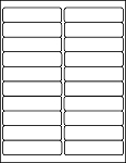 Rectangular White 100 Sheets 4 x 1 Labels 4010