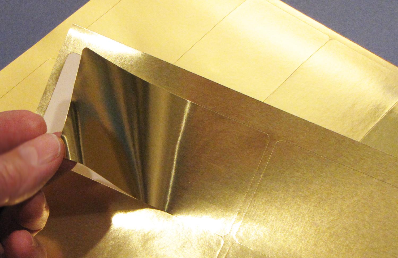 4 x 2 Rectangular Labels Laser Gold Foil 25 sheets 4020GF