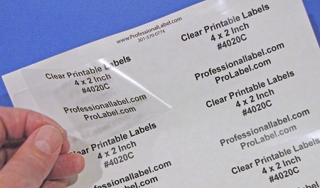 image about Printable Clear Labels known as 4 x 2 Printable Very clear Labels Laser Shiny 50 sheets 4020C
